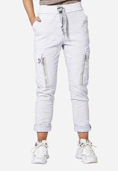 NÜ Cargohose »Carmen striped« Hohe, elastische Taille