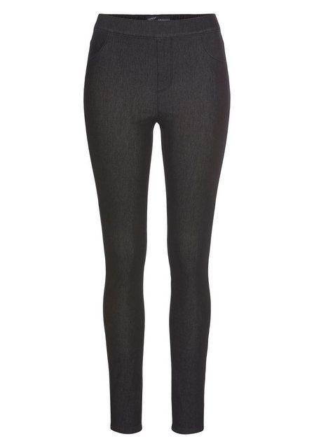 Hosen - Arizona Jogg Pants »High Waist« in Denim Optik › schwarz  - Onlineshop OTTO