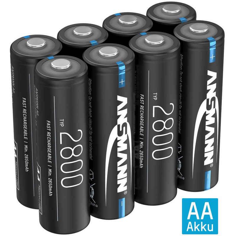 ANSMANN® »Akku AA Mignon 2800mAh NiMH 1,2V - Batterien wiederaufladbar (8 Stück)« Akku 2800 mAh (1.2 V)