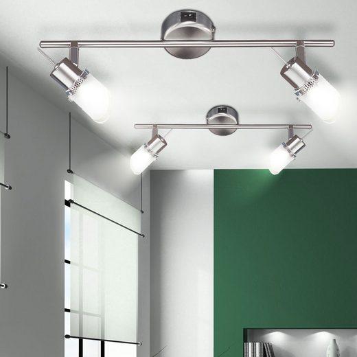 WOFI Wandleuchte, 2er Set Decken- und Wand Spot Strahler Leuchte beweglich Leuchtmittel Wofi