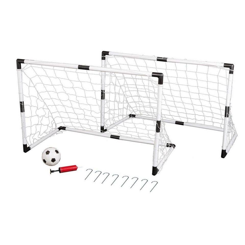 Kinder Fußballtor 2er//Set Ball Pumpe Tor Fußball Netz Torwand Goal Trainieren DE
