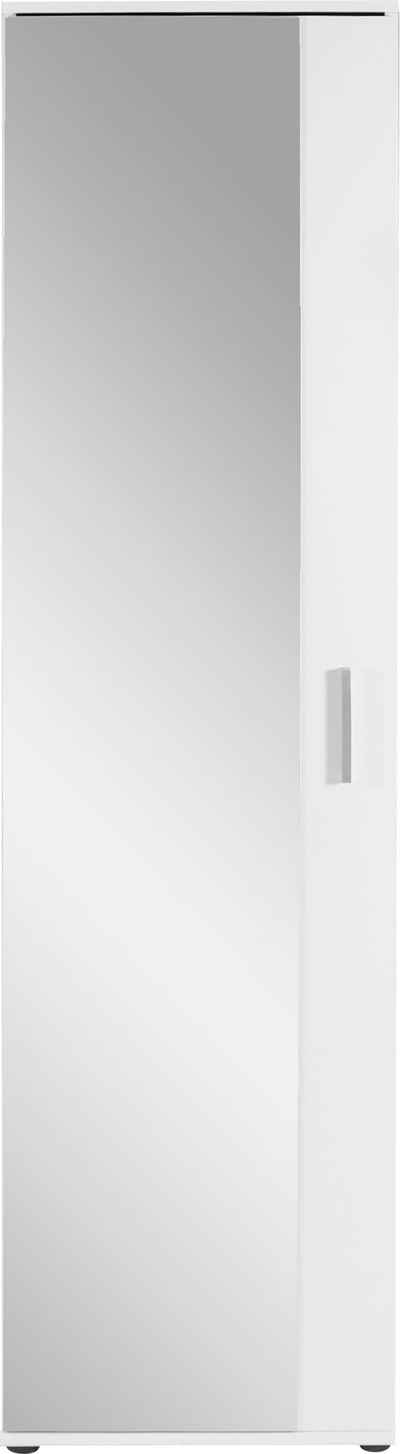byLIVING Garderobenschrank »Jakob« mit großem Spiegel, Breite 49 cm