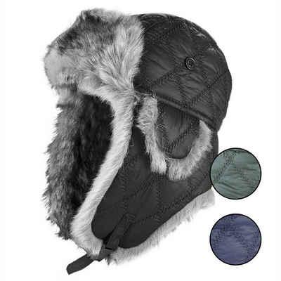 Black Snake Fellimitatmützen »aviator« (1-St) Fliegermütze Wintermütze Mütze