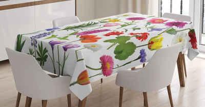 Abakuhaus Tischdecke »Personalisiert Farbfest Waschbar Für den Außen Bereich geeignet Klare Farben«, Blume Farbige Rosen Tulpen
