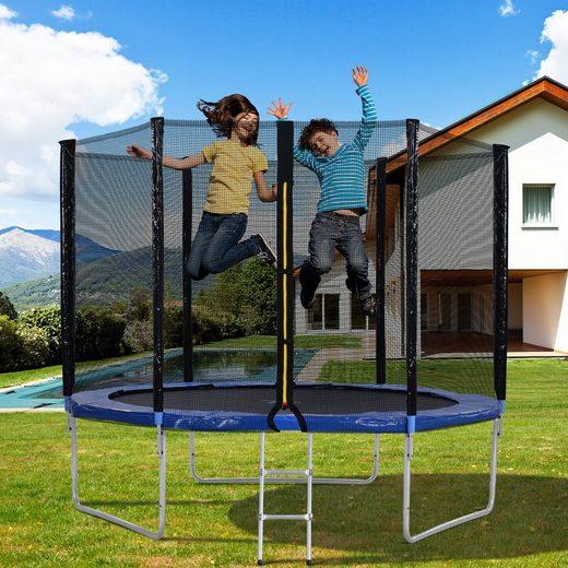 Merax Fitnesstrampolin »Outdoor-Trampolin mit Sicherheitszaun und Leiter, 10 FT Gartentrampolin mit 150 kg«