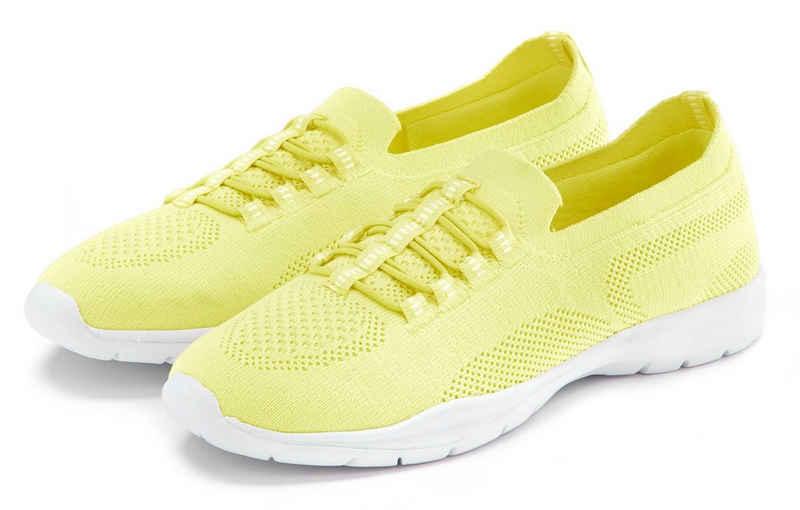 LASCANA Sneaker Slip In bequem zum Reinschlüpfen aus leichtem Meshmaterial