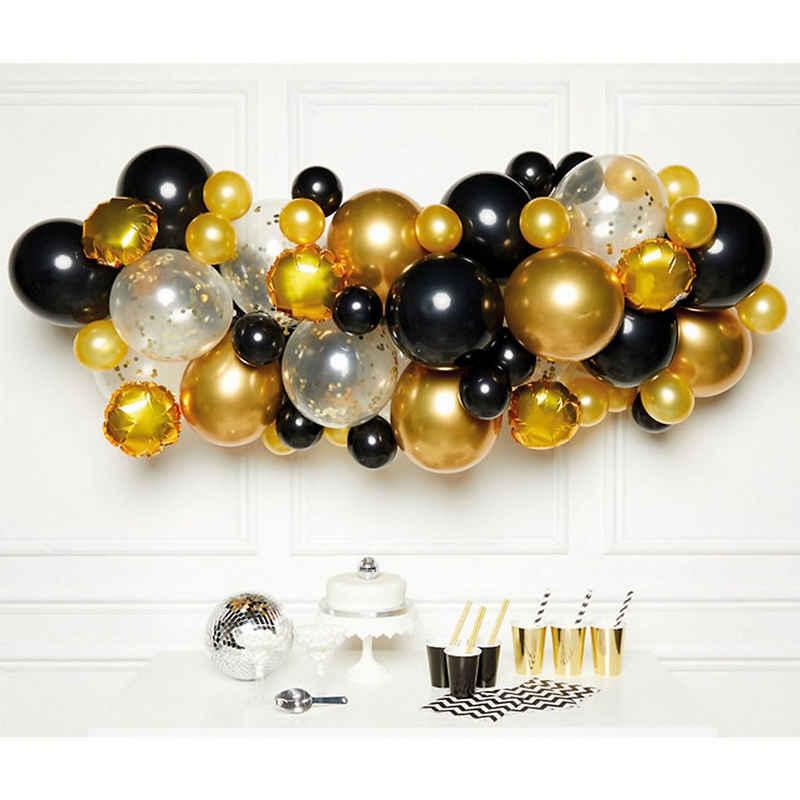 Amscan Girlande »DIY Ballongirlande Schwarz Gold, 66 Ballons«