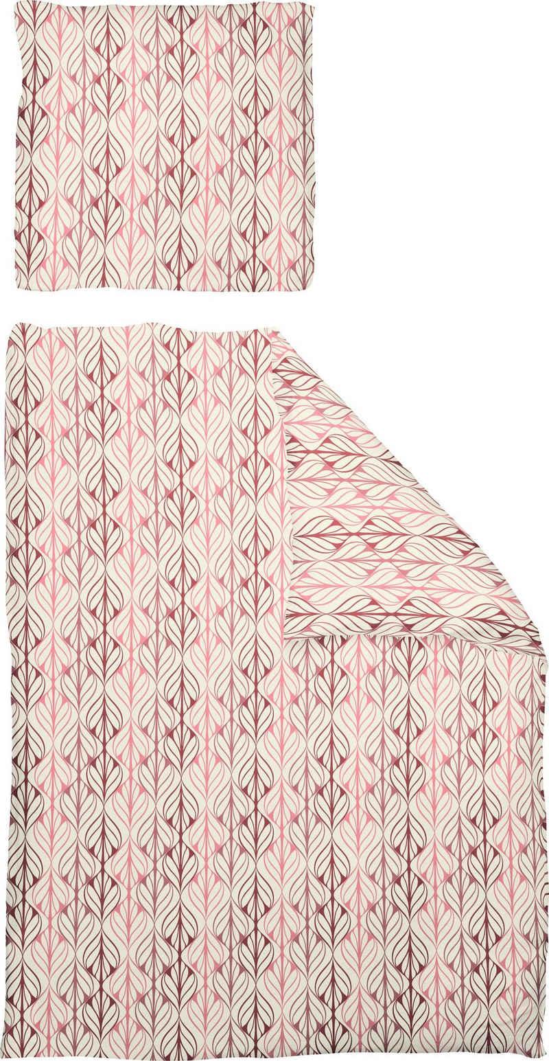 Bettwäsche »Leinenbettwäsche Wave«, Adam, GOTS zertifiziert, nachhaltig aus Bio-Baumwolle