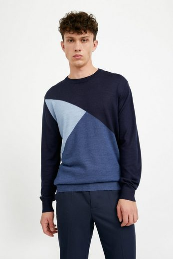 Finn Flare Rundhalspullover in farbigem Design