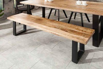 riess-ambiente Sitzbank »IRON CRAFT 170cm natur / schwarz«, mit Massivholz-Platte
