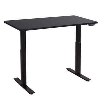Balderia Schreibtisch, Höhenverstellbarer Schreibtisch Elektrisch - Verstellbares Tischgestell inkl. Tischplatte 120 x 60 cm - Höhe 71-119 cm - Schwarz