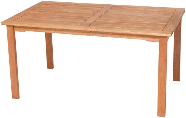 MERXX Gartentisch 150x90 aus FSC Eukalyptusholz