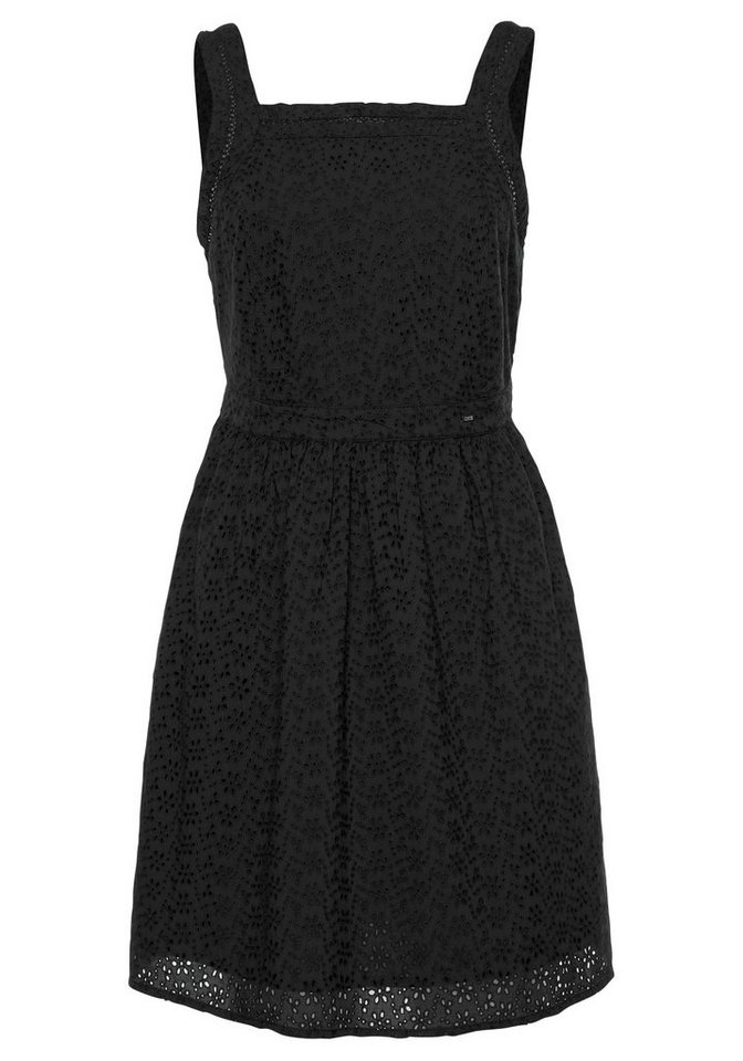 Festtagsmode - Superdry Spitzenkleid »BLAIRE BRODERIE DRESS« aus Allover Lochstickerei › blau  - Onlineshop OTTO