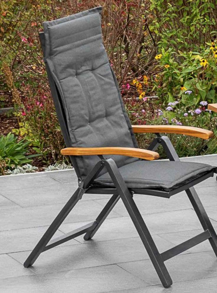 MERXX Hochlehnerauflage »Tilos Kissen«, (1 St), Polyester, für Sessel, grau