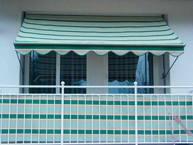 ANGERER FREIZEITMÖBEL Klemmmarkise grün-beige, Ausfall: 150 cm, versch. Breiten   Garten > Sonnenschirme und Markisen > Markisen   Angerer Freizeitmöbel