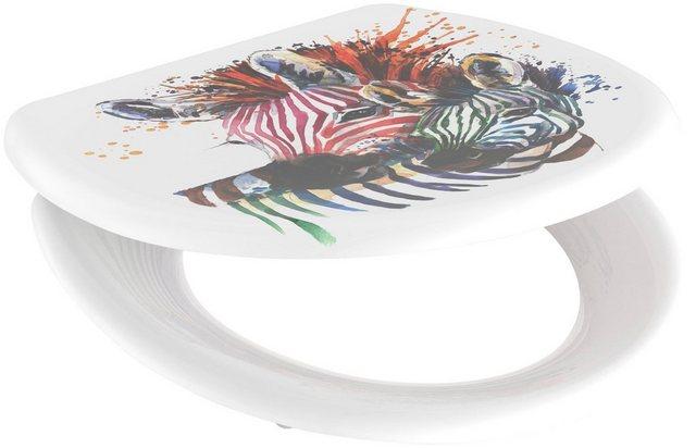 WCs und Zubehör - welltime WC Sitz »Zebra«, mit Absenkautomatik, abnehmbar  - Onlineshop OTTO