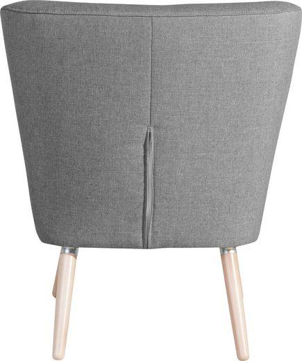 Max Winzer® Sessel »Nikki«  im Retro-Design  mit Holzbeinen