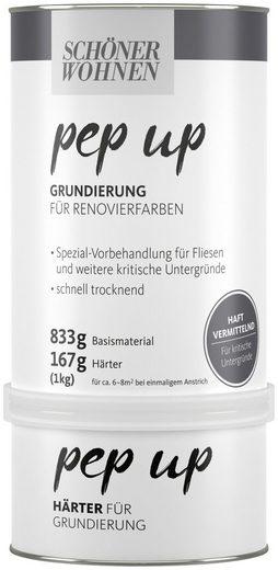 SCHÖNER WOHNEN FARBE Set: Grundierfarbe »pep up - weiß«, für Renovierfarben, matt, 1 kg