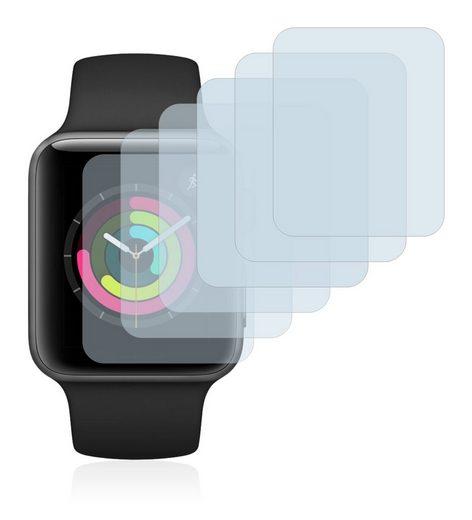 Savvies Schutzfolie »für Apple Watch Series 3 (42 mm)«, (6 Stück), Folie Schutzfolie klar
