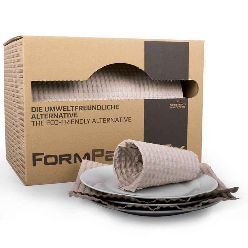 KK Verpackungen Endlospapier, Packpapier Schrenzpapier Füllmaterial in Spenderbox FORMPack 55lfm Braun