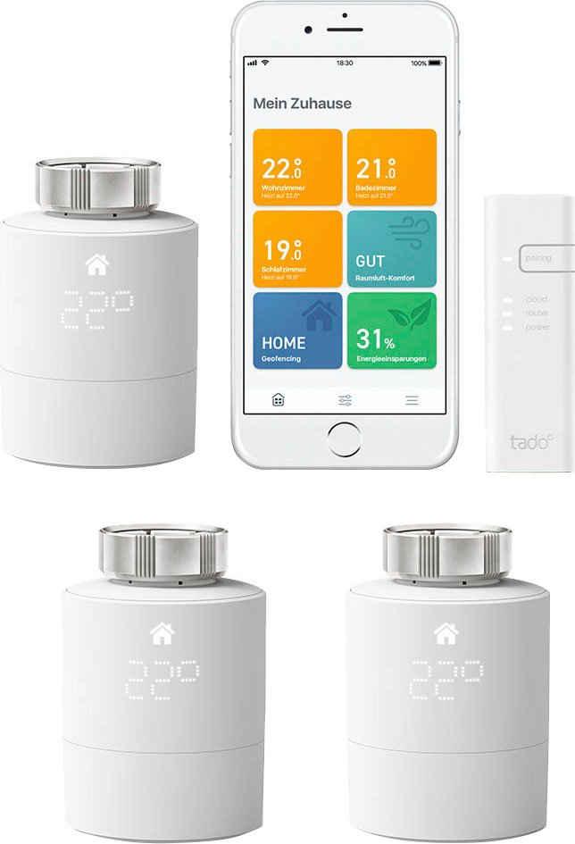 Tado »Smartes Heizkörper-Thermostat V3+ mit 2 zusätzlichen Heizkörper-Thermostaten« Smart-Home Starter-Set