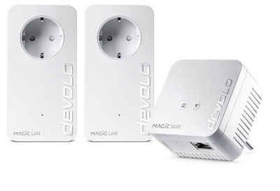 DEVOLO »(1200Mbit,Powerline+WLAN ac,Mesh WIFI,3 Adapter)« Netzwerk-Adapter, Magic 1 WiFi Multimedia Power Kit
