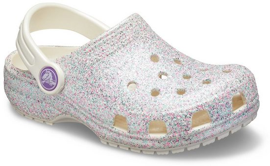 Crocs »Classic Glitter Clog« Clog mit schwenkbarem Fersenriemen