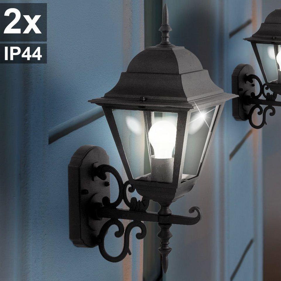 LED Außen Wand Leuchten Veranda Garten Beleuchtung Terrassen Licht Hof Lampen