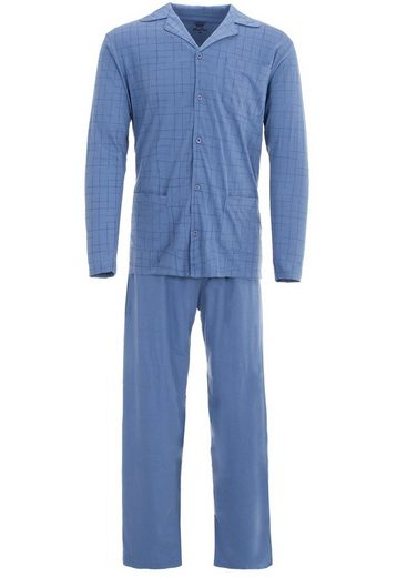 Henry Terre Schlafanzug »Henry Terre Herren Pyjama 2 tlg. Schlafanzug Langarm Baumwolle«
