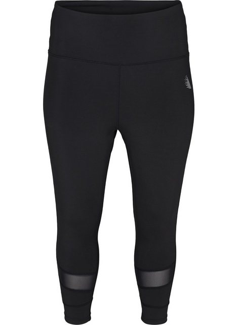Hosen - Active by ZIZZI Trainingstights Große Größen Damen 3 4 Stretch Mesh ›  - Onlineshop OTTO