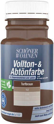 SCHÖNER WOHNEN FARBE Voll- und Abtönfarbe torfbraun, 0,13 l