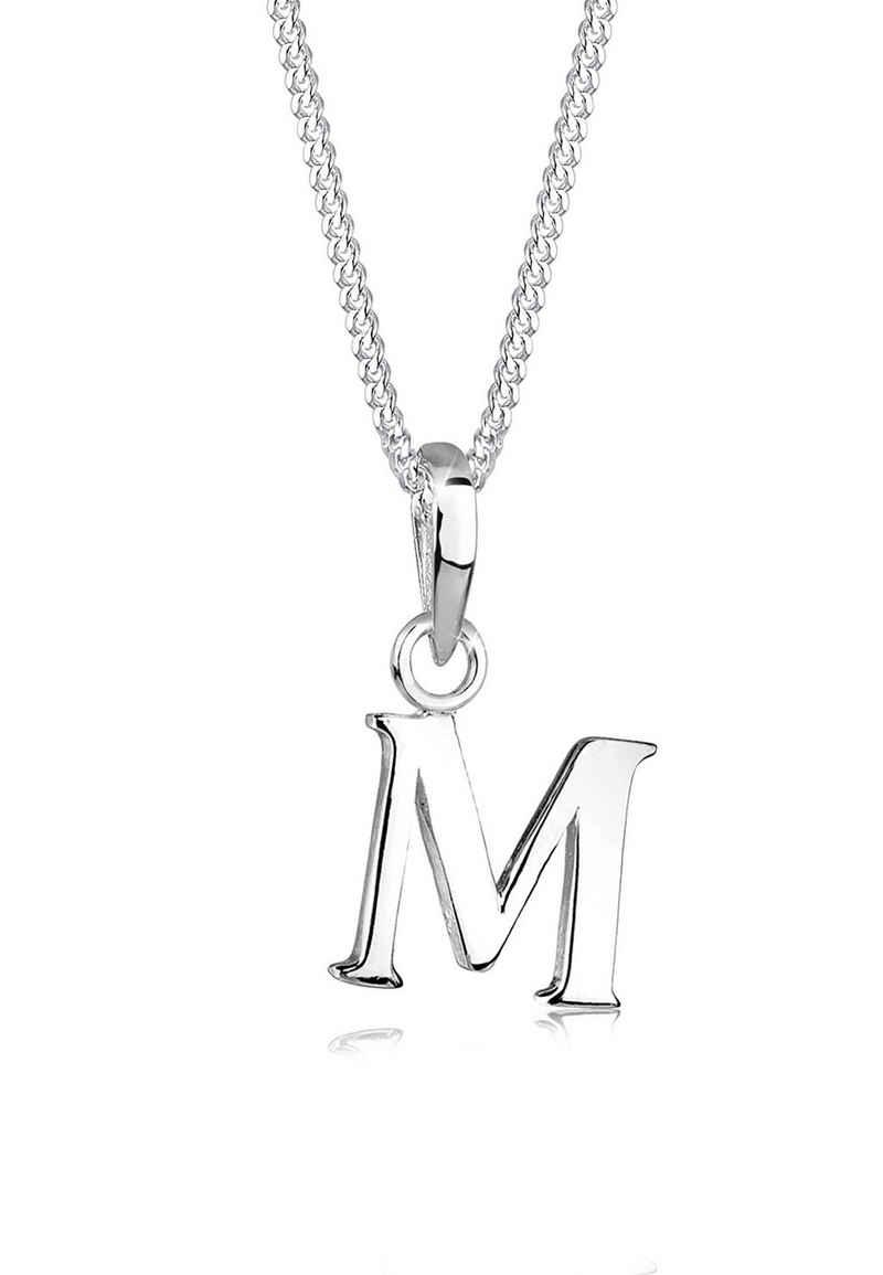 Elli Kette mit Anhänger »Buchstabe M 925 Sterling Silber«, Buchstabe