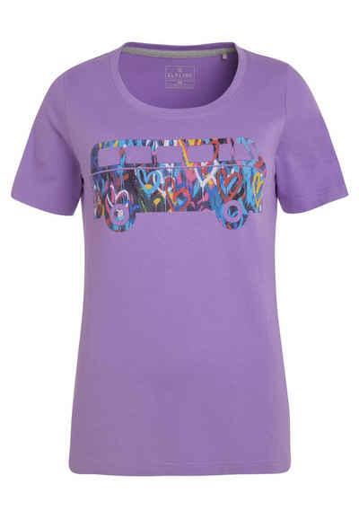 Elkline T-Shirt »Filled with love« lizenzierter Bulli Graffiti Print