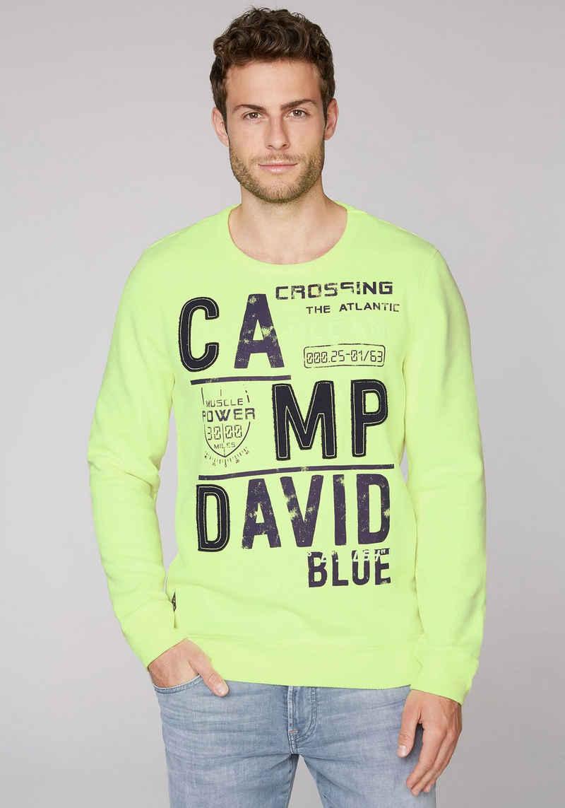 CAMP DAVID Sweatshirt mit Logoprint