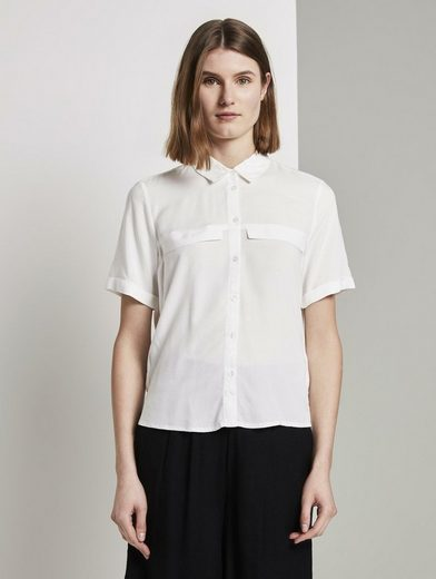 TOM TAILOR Kurzarmbluse »Hemdbluse mit Brusttaschen«