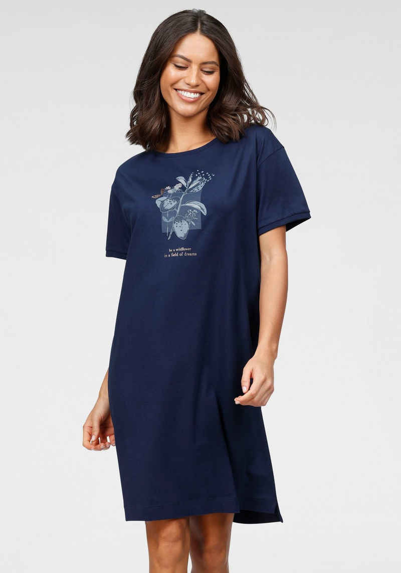 Triumph Nachthemd mit floralen Frontdruck