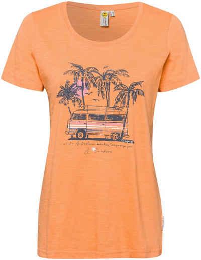 ROADSIGN australia Print-Shirt mit Caravan- und Palmendruck
