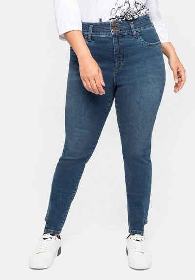 Sheego Stretch-Jeans mit Bodyforming-Effekt und High-Waist-Bund