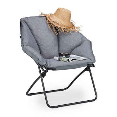 relaxdays Campingstuhl »Moon Chair gepolstert«
