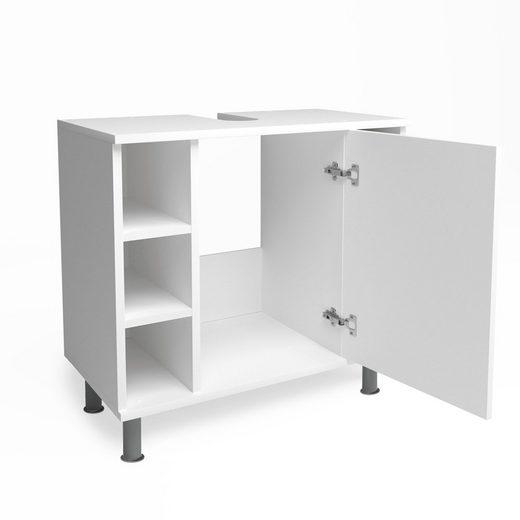 Vicco Waschbeckenunterschrank »FYNN Weiß - Badmöbel Badschrank Unterschrank«