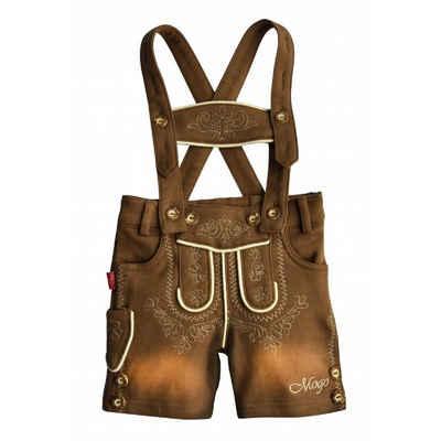 Mogo Trachtenhose »Babylederhose in weicher elastischer Baumwollsweatware, Bopser mit cooler Waschung, auch schon für die Kleinsten«