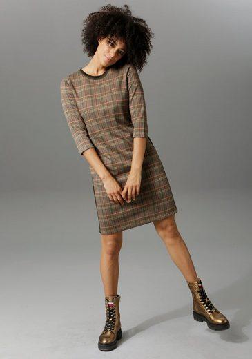 Aniston CASUAL Sweatkleid mit gestreiften Galonstreifen