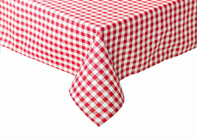 TextilDepot24 Tischdecke »im Landhausstil - kariert - Bauernkaro - Größen, Farben und Karogröße wählbar«