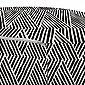 Abakuhaus Pouf »dekorative weiche Fußstütze und Reißverschlusshülle osmanisches Wohn-und Schlafzimmer«, Abstrakt Monotone Entwurf Triangles, Bild 3