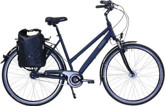 HAWK Bikes Trekkingrad »HAWK Citytrek Lady Deluxe Plus Ocean Blue«, 7 Gang Shimano Nexus Schaltwerk