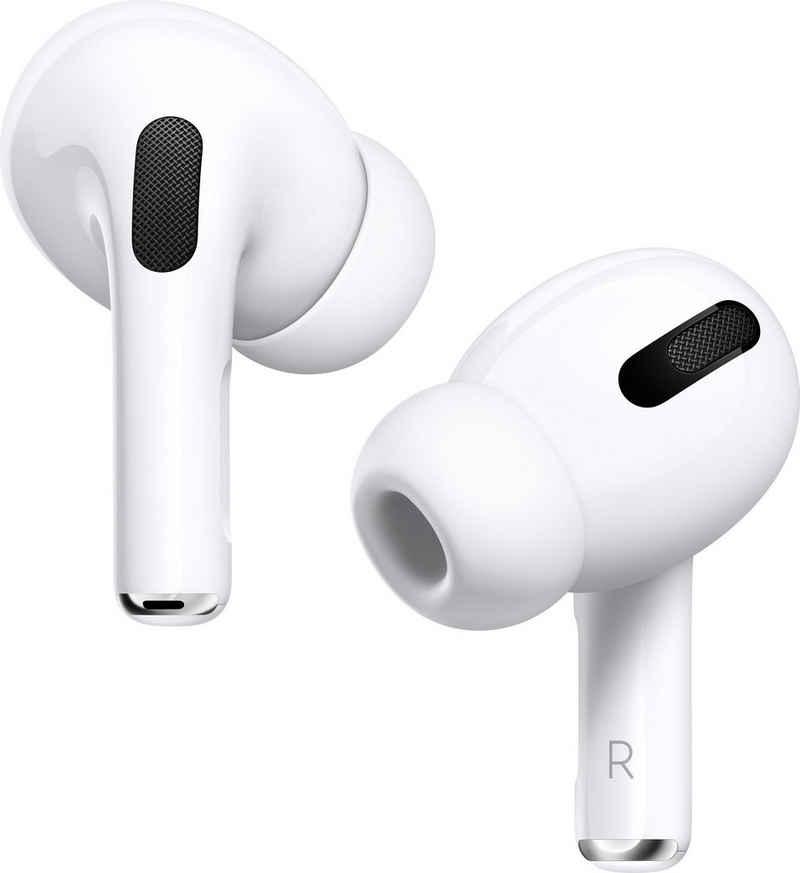 Apple »AirPods Pro mit Wireless Case / MWP22ZM/A« In-Ear-Kopfhörer (Noise-Cancelling, Transparenzmodus, Sprachsteuerung, True Wireless, Bluetooth, Kompatibel mit iPhone, iPhone XR, iPhone Mini, iPad Air, iPad Mini, iPad Pro, Watch SE, Series 6, Series 5, Series 4, Series 3, Mac Mini, iMac)