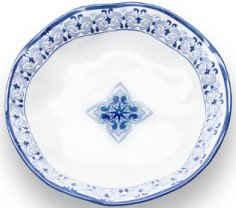 Q Squared NYC Salatteller »Talavera Collection«, (2 Stück), Ø 24 cm, Melamin