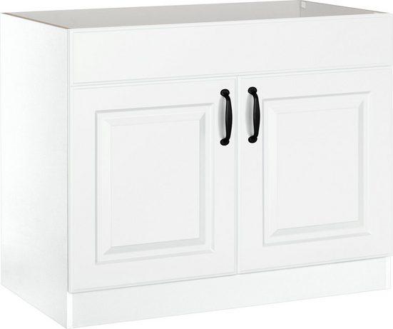 wiho Küchen Spülenschrank »Erla« 100 cm breit mit Kassettenfront, ohne Arbeitsplatte