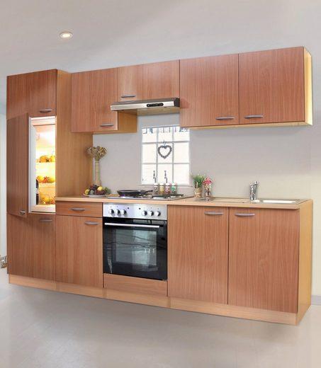 RESPEKTA Küchenzeile »Basic«, mit Edelstahl-Kochmulde, Breite 270 cm