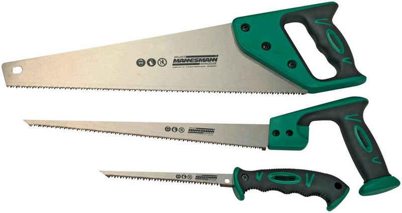 Brüder Mannesmann Werkzeuge Handsäge (Set, Handsäge 400 mm, Stichsäge 300 mm, Stichsäge 150 mm)